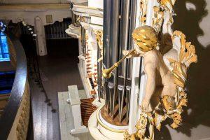 Orgel der Bachkirche, Ausschnitt
