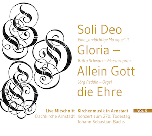 CD-Cover Kirchenmusik in Arnstadt Vol. 5